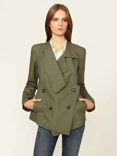 Grey Antics Asymmetrical Cotton Peacoat #fashion #jacket #woman #gilt