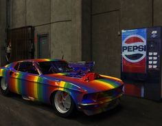 Brand New Paint Job #rainbow #car #art