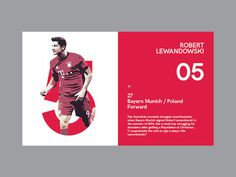 Ui layout for latest concept project covering The 10 best footballers in the world in 2015. ui, football, poster, editorial, red, concept,