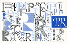 P, R, Embroidery Letterforms, Present and Correct