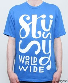Stussy x Parra Worldwide Tee Blue #stussy #tshirt #tee #type #parra