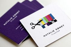 Natalie Ebnet Logo & Business Cards « Mattson Creative #business #square #collateral #logo #cards