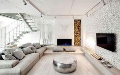 Trendy Duplex Apartment by FORM Bureau -#decor, #interior, #homedecor, #design, #home, #white
