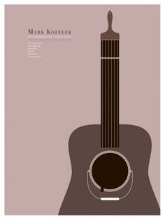 Mark Kozelek 2010 Scandinavian Tour poster by The Small Stakes