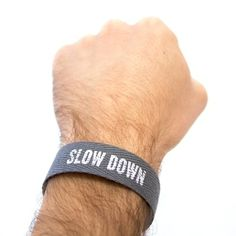 swissmiss #slow #down #bracelet #typography