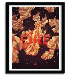 FIRE by Cristian Eres #print #art