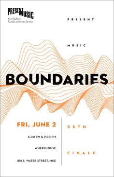 Boundaries postcard for Present Music, Milwaukee, Wisconsin