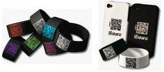 QR Code Wristbands #business #design #graphic #cards #3d
