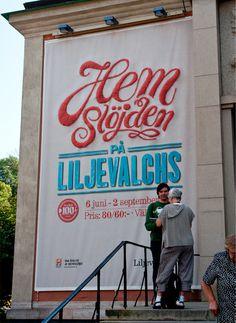Liljevalchs Gallery Exhibition Identity on Behance #liljevalchs #snask #handmade #identity #sewing