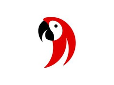 Parrot logo design bird red