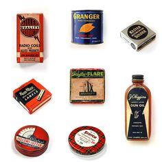 vintage, package, tin