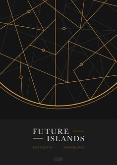 Future Islands, Barrowlands poster by James Kirkup http://james-kirkup.com/ #islands #catcher #barrowlands #gig #yellow #dream #black #poster #glasgow #music #4ad #future #concert