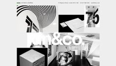 dn&co - Web design inspiration from siteInspire #website #helvetica #webdesign