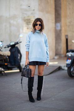 fashion, street fashion, blog, blue sweater