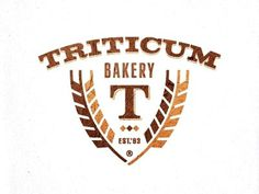 Dribbble - Triticum bakery by Paul Saksin #design #logo #crest #bakery #wheat
