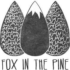 Fox in the pine #logo #blog #fox