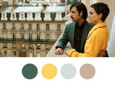 Hotel Chevalier. #wes anderson #color palette