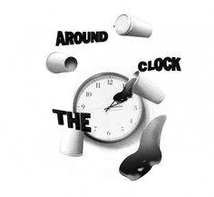 tumblr_ltwpy82T2c1qf6t5zo1_r8_1280.jpg 700×647 pixels #white #black #illustration #coffee #clock #shadow