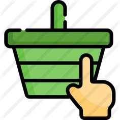 See more icon inspiration related to hands and gestures, commerce and shopping, shopping basket, store, container, basket, purchase, cart, hand, shop and shopping on Flaticon.