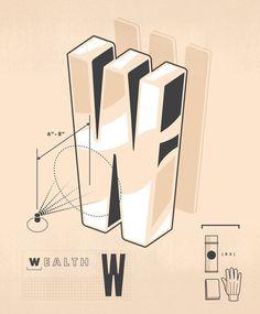 Money Magazine / 101 Ways to Build Wealth on Behance #illustration #typography #lettering