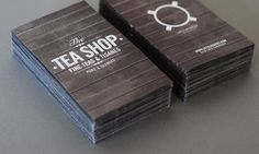 leolab / The TeaShop LS Tea Sommelier #print #layout #branding