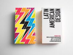 LATIN AMERICAN DESIGN on Behance #branding #identity #business cards #colors #stationery