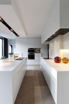 Modern white kitchen #modern #white #kitchen