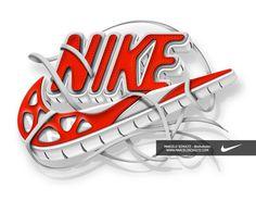 Nike Futura logo on Behance #logo #illustration #nike #typography