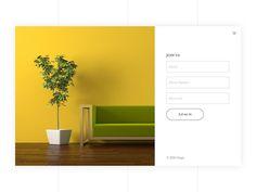 Registration Popup #furniture #ecommerce #Registration #LoginScreen