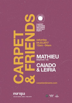 carpet & snares Portugal, 2017