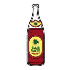 Illustrations | 'Club Mate Granat' #illustration #club #mate #icon #design
