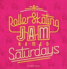 #hiphop #delasoul #oldschool #pink #rollerskating #saturday