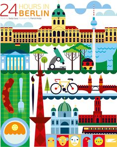 24 hours in Berlin Germany #guide #germany #illustration #airways #berlin