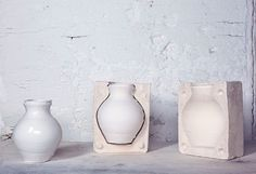 Apparatu - mould #design #furniture #interior #plaster #vase #mould
