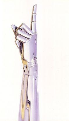 50 Watts #robot #sci #fi #fingers #illustration #chrome #metal #hand #japan
