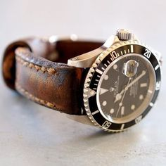 Dailymovement #strap #black #leather #watch #rolex