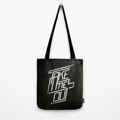 """""""Take me out"""" tote bag by Koning #tote #black #fashion #bag #ferdinand #franz"""