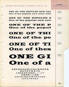 Latin Wide type specimen #type #specimen