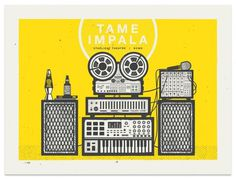 Tame Impala Poster #illustration #poster #gig poster #screen print #tame impala #modern giant design