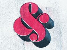 Dribbble - Worthe Ampersand by ryan slater #ampersand #texture #typography