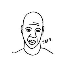 Jay-Z #bktx #beyonce #brooklyn #texas #drawing #illustration