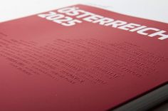 ÖSTERREICH 2025 Editorial and Information Design, 2010 #design #graphic #book