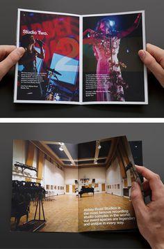 [Abbey Road Studios rebrand event booklet literature ]