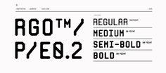 Mono RGO™ Pro #monospace #modular #typeface #typography #posters #print
