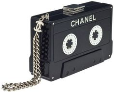 Chanel cassette tape clutch