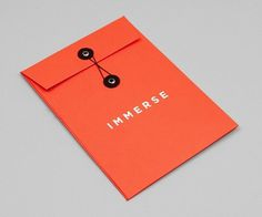 Immerse | Lovely Stationery #stationery #design #graphic #typography