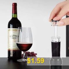 SW #- #VS05S #Wine #Vacuum #Stopper #- #BLACK