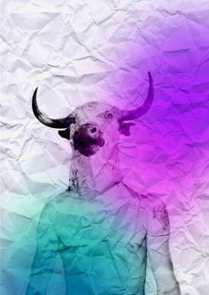 CR. #tumblr #cyan #magenta #hybrid #com #bull #crollan