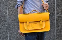Likes | Tumblr #yellow #satchel #leather #fashion #bag