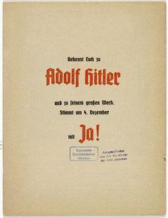 MISSING IMAGE #typography #print #book #blackletter #hitler #nazi #propaganda